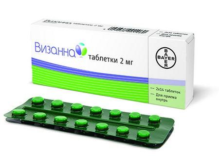 Упаковка таблеток Визанна